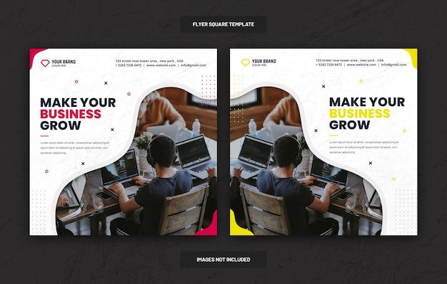 Social business marketing social media banner oder square flyer Premium PSD