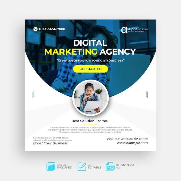 Social business marketing social media post vorlage Premium PSD