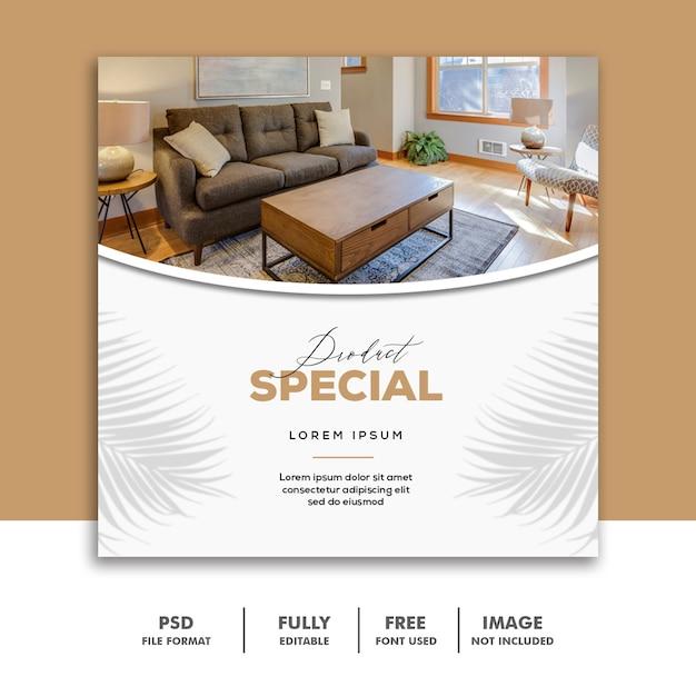 Social media banner vorlage instagram, möbel luxus spezial Premium PSD