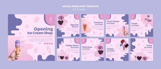 Social-media-beitrag der eisdiele Kostenlosen PSD