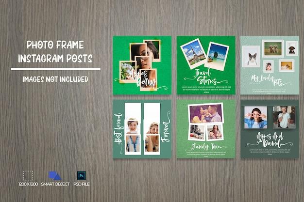 Social media-fotorahmen instagram-beitragspaket Premium PSD
