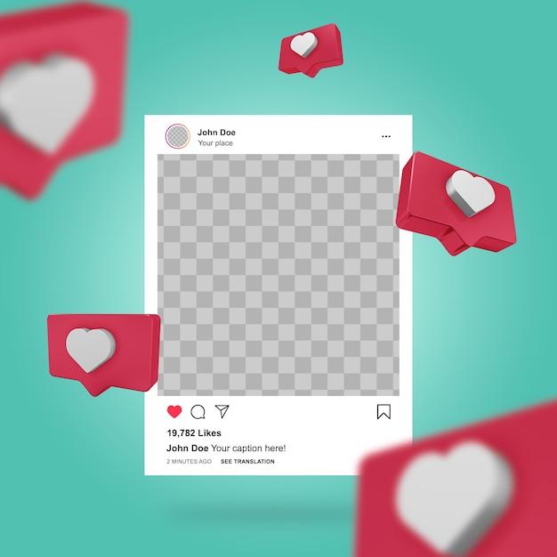 Social media instagram post vorlage Premium PSD