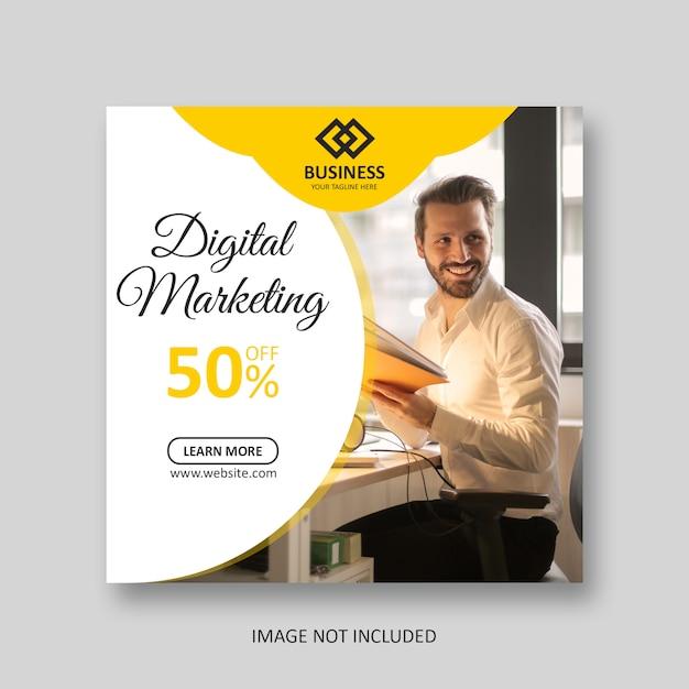 Social-media-post-marketing-banner Premium PSD