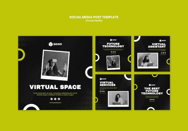 Social-media-post-vorlage für virtuelle realität Kostenlosen PSD