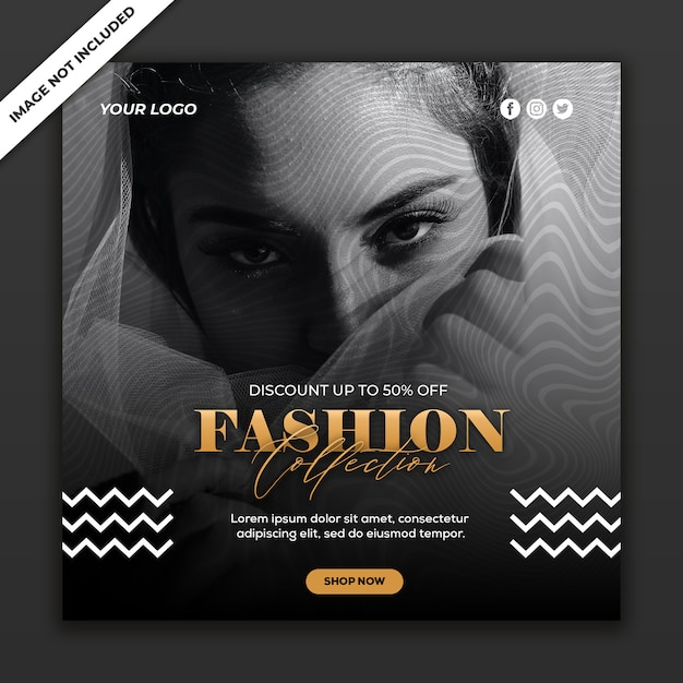 Social media post vorlage instagram fashion sale kollektion Premium PSD