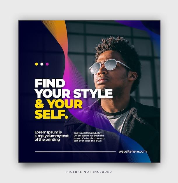 Social-media-post-vorlage mit farbverlauf Premium PSD