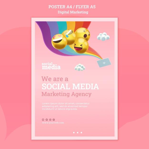 Social media poster vorlage Kostenlosen PSD
