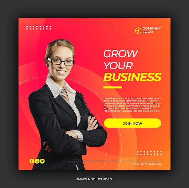 Social media postvorlage für digitales marketing Premium PSD