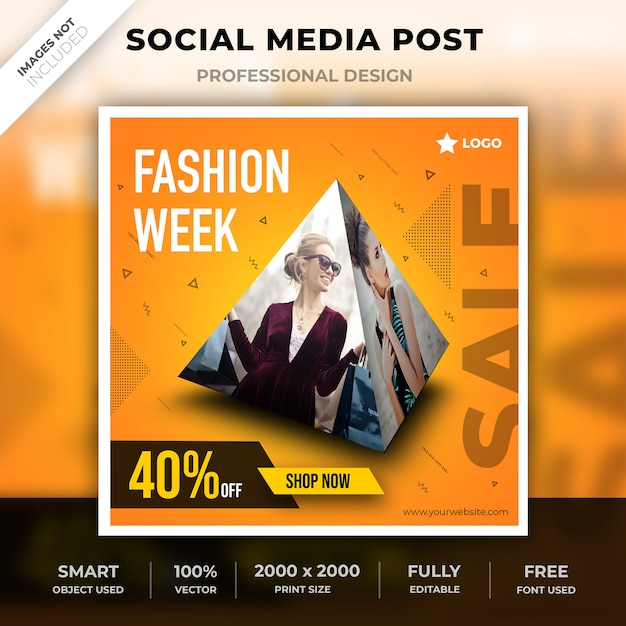 Social media pyramidendesign Premium PSD