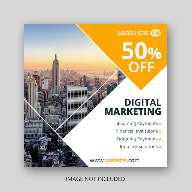 Social media web-banner oder instagram-anzeigen Premium PSD