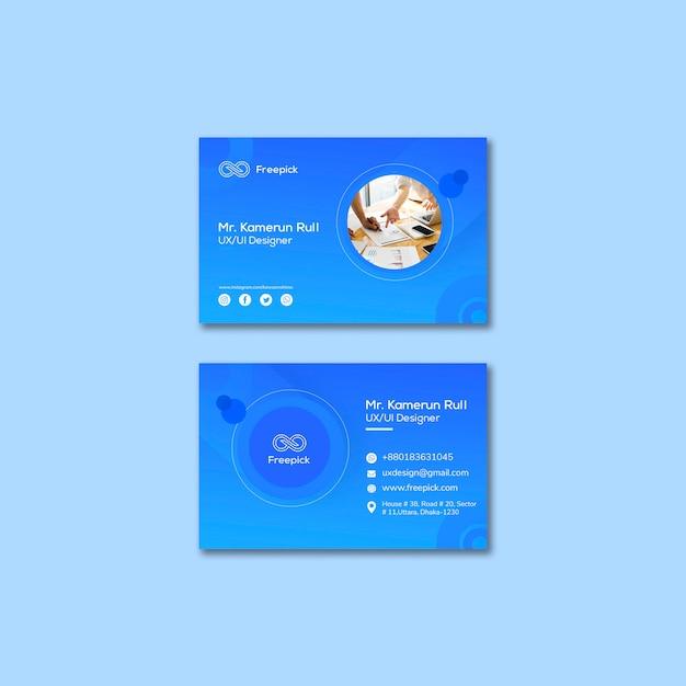 Social media web template für visitenkarten Kostenlosen PSD