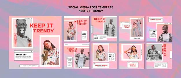 Social store postvorlage des modegeschäfts Kostenlosen PSD