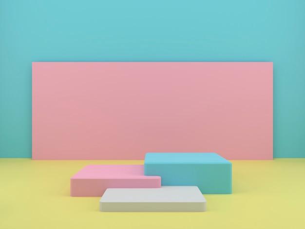 Sockel für die anzeige für den produktstand in 3d-rendering Premium PSD