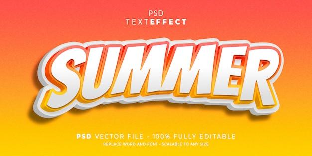 Sommer text und schrift effekt stil Premium PSD
