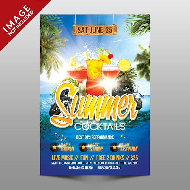 Sommercocktails Premium PSD