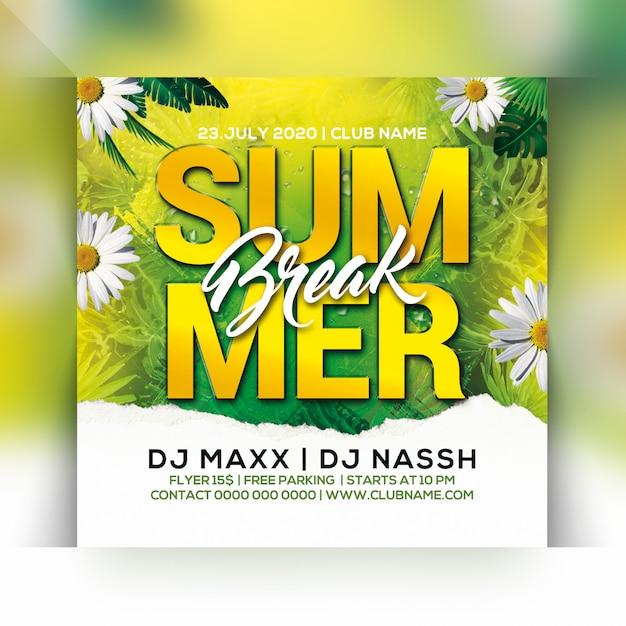 Sommerferien party flyer Premium PSD