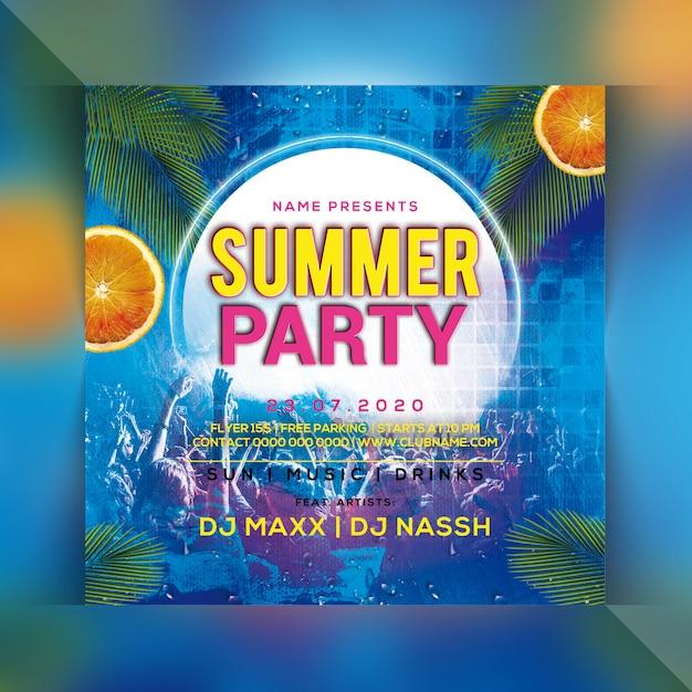Sommerfest flyer Premium PSD