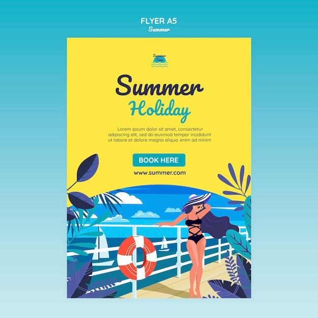 Sommerkonzept flyer vorlage Kostenlosen PSD