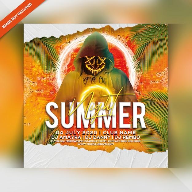 Sommernacht party flyer Premium PSD