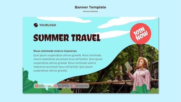 Sommerreise banner vorlage Kostenlosen PSD