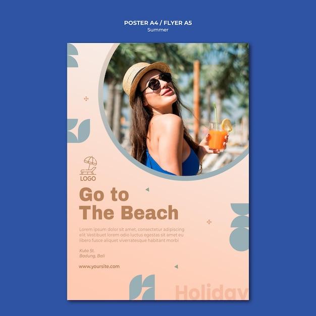 Sommerreise flyer vorlage Kostenlosen PSD