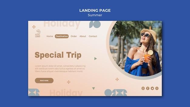 Sommerreise landingpage vorlage Kostenlosen PSD