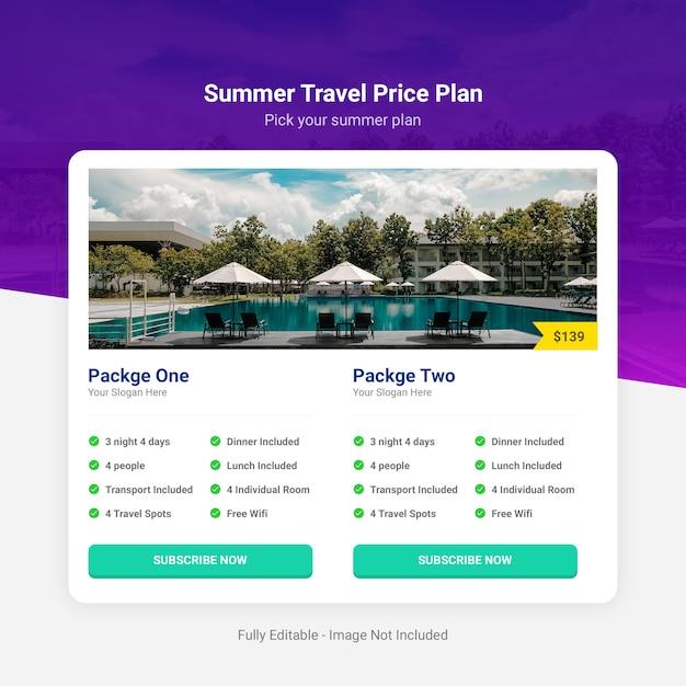 Sommerreise preisplan Premium PSD