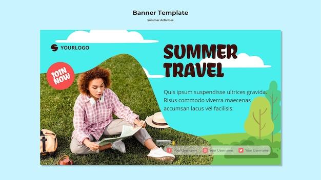 Sommerreisevorlage banner Kostenlosen PSD