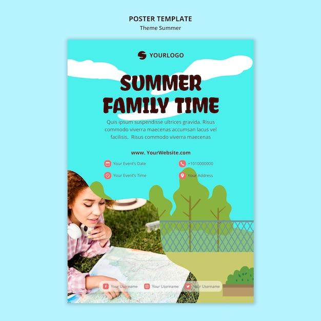 Sommerreisevorlageplakat Kostenlosen PSD