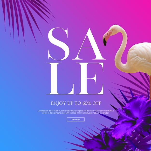 Sommerschlussverkauf banner Premium PSD