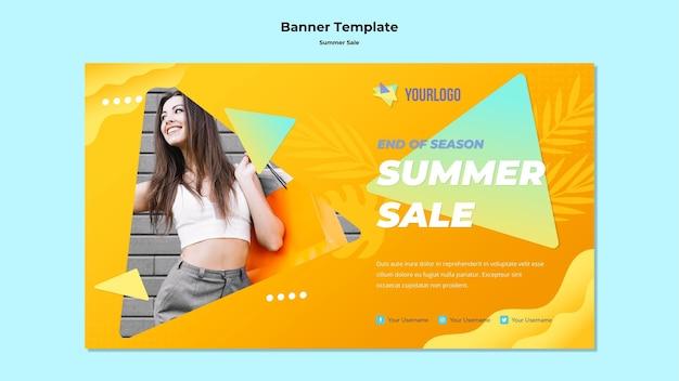 Sommerverkauf banner vorlage Kostenlosen PSD