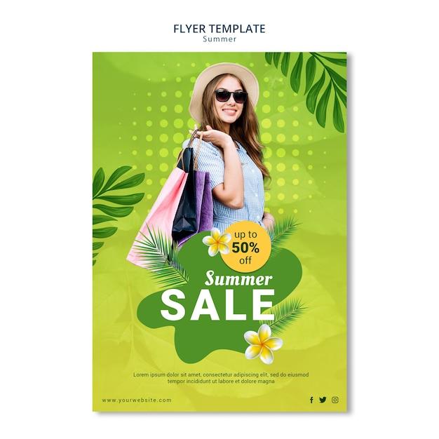 Sommerverkauf flyer vorlage Kostenlosen PSD