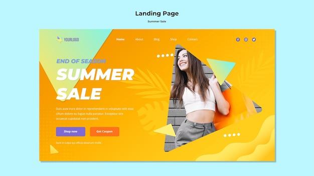 Sommerverkauf landingpage design Kostenlosen PSD