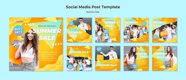 Sommerverkauf social media beiträge Kostenlosen PSD