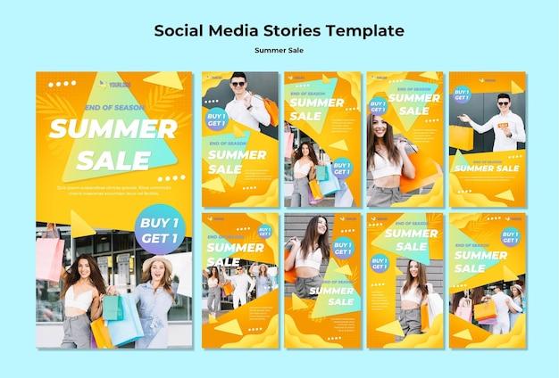 Sommerverkauf social media geschichten Kostenlosen PSD