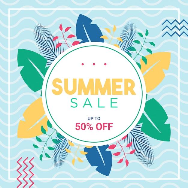 Sommerverkauf social media post oder banner vorlage Premium PSD