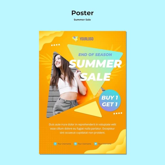 Sommerverkaufsplakatdesign Kostenlosen PSD