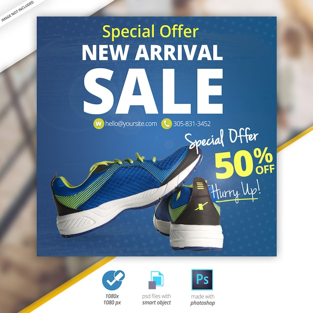 Sonderangebot sport sale social banner Premium PSD