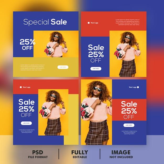Sonderverkauf banner vorlage set Premium PSD