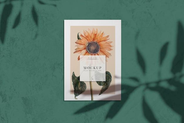 Sonnenblumen-kartenmodell Kostenlosen PSD