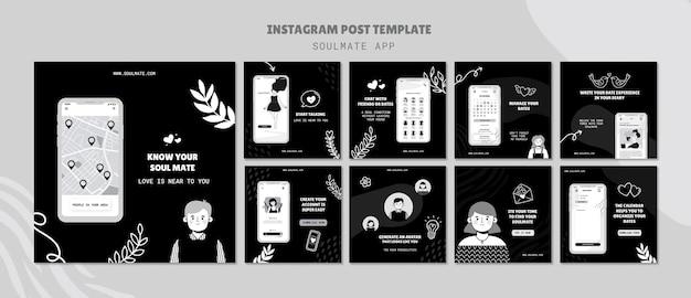 Soulmate app social media beiträge Kostenlosen PSD