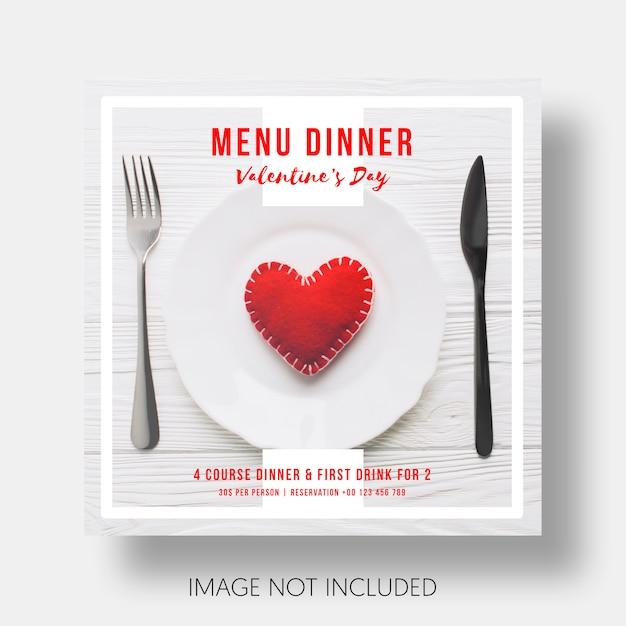 Sozialschablonenrestaurant valentinstag Kostenlosen PSD