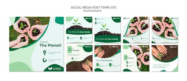 Speichern sie die planeten-social media-beitragsschablone Kostenlosen PSD