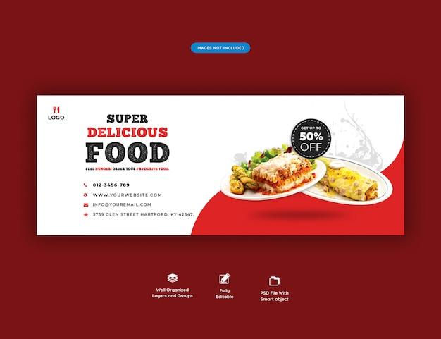 Speisekarte und restaurant facebook cover banner vorlage Premium PSD