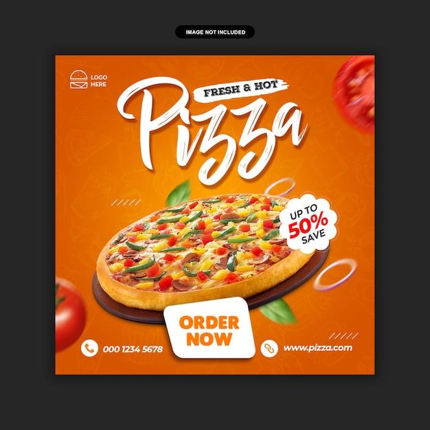 Speisekarte und restaurant pizza social media post vorlage premium psd Premium PSD
