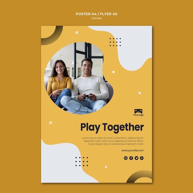 Spiele poster vorlage thema Kostenlosen PSD