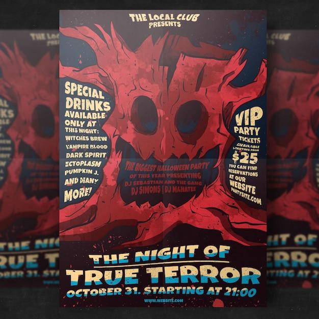 Spooky halloween party flyer vorlage Kostenlosen PSD