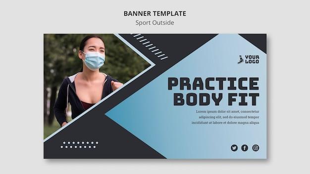 Sport außerhalb banner vorlage design Kostenlosen PSD
