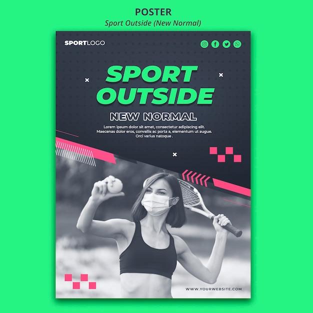 Sport außerhalb des konzeptplakatstils Kostenlosen PSD