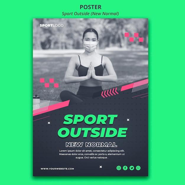Sport außerhalb konzept poster vorlage Kostenlosen PSD